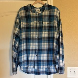 Blue plaid flannel